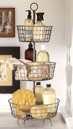 Tiered Rack for Bathroom Storage