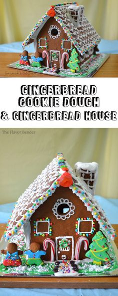 Recipe for Gingerbread dough and a template for a Gingerbread House