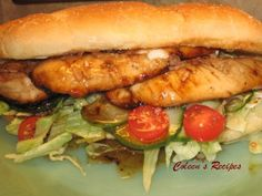 SUBWAY SWEET ONION CHICKEN TERIYAKI SANDWICH  This was excellent, but found it was easier to eat on a toasted bun.