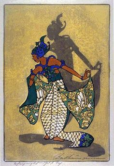 Balinese Dancer  by Bertha Lum, 1933