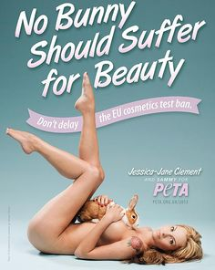 Jessica-Jane Clement    We don't test on animals! @Official PETA