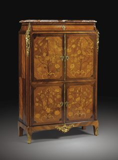 GILT BRONZE MOUNTED MARQUETRY SECRÉTAIRE STAMPED P. FLECHY AND JME. LOUIS XV. Sotheby's