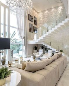 Different Interior Decorating Styles For a Living Room Dream Home Design, Modern House Design, Living Room Designs, Living Room Decor, Interior Design Career, Staircase Design, Staircase Ideas, Luxury Interior, Room Interior