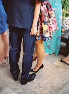 Sweet couple  | Photography: Jessica Burke - jessicaburke.com  Read More: http://www.stylemepretty.com/living/2014/10/01/preppy-rehearsal-dinner/