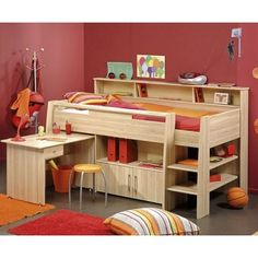 Cabin bed with slide and choice of football accessories white mid sleeper bed
