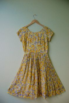 short sleeve dress, yellow, floral