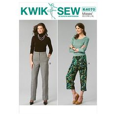 Buy Kwik Sew Women's Trousers Sewing Pattern, 4070 Online at johnlewis.com