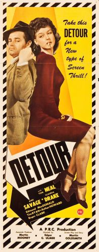 "Movie Posters:Film Noir, Detour (PRC, 1945). Insert (14"" X 36"").. ..."