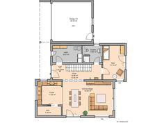 Kern-Haus Futura Bauhaus Grundriss Erdgeschoss