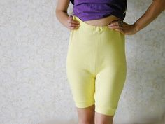 Soviet long leg knickers vintage yellow cotton by SovietDreams, $26.00