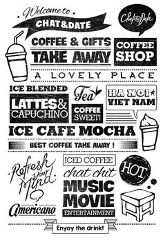 Typography Decoration for Chat&Date on Behance