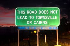 This road does not lead to ......    photo by June Perkins