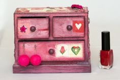 Jewelry Box Jewelry Chest of Drawers  Custom Made by BeauMiracle, $33.00