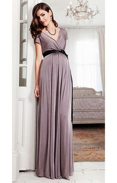 Alessandra Maternity Gown Long (Mink) by Tiffany Rose