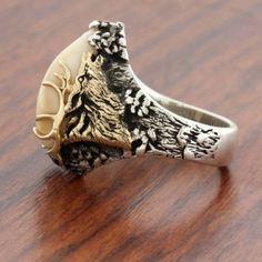 Elk Ivory Tooth Trophy Antler Ring1