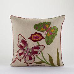 Garden Butterfly Throw Pillow