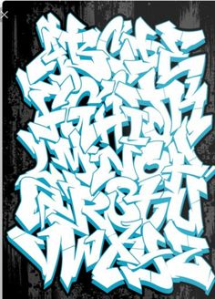 'Graffiti Alphabet' Poster by Graffiti Tattoo, Graffiti Text, Graffiti Piece, Graffiti Tagging, Graffiti Drawing, Street Art Graffiti, Graffiti Artists, Graffiti Letters Styles, Graffiti Lettering Alphabet