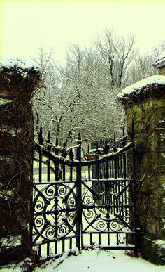 Winter Gate at Mount Hope Cemetery, Rochester, NY