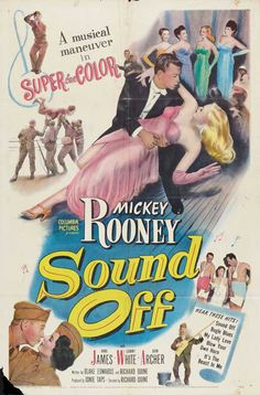 """""""Sound Off"""" (1952) starring Mickey Rooney on Antenna TV -- 11/21/2012 (Wed) at 9a ET & 11/23/2012 (Fri) at 3a ET."""