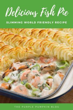 Slimming World Fish Pie Seafood Pie Recipe, Prawn Recipes, Salmon Recipes, Seafood Recipes, Healthy Pie Recipes, Cooking Recipes, Slimming World Fish Recipes, Prawn Fish, Salmon Risotto