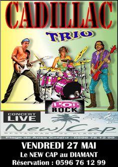 Cadillac Trio Vous aussi intégrez vos événements dans l'Agenda des Sorties de www.bellemartinique.com C'est GRATUIT !  #martinique #concert #agenda #sortie #soiree #Antilles #domtom #outremer