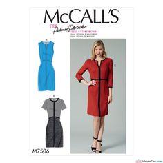 McCall's - M7506 Misses' Split-Neck or Split-Hem Dresses with Binding - WeaverDee.com Sewing & Crafts - 1