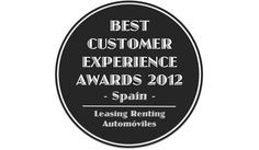 Best Customer Experience Awards, Spain 2012, Categoria, Leasing-Renting Automóviles