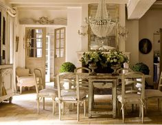 FaB Space...  Lots of WHITE... CHANDELIER...