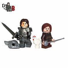 Custom Game of Thrones Sandor Clegane The Hound & Arya Stark with weapons.