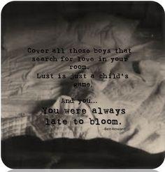 Bones - Ben Howard lyrics (beautiful, beautiful song)
