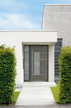 Homeplaza - Haustürfüllungen aus Corten-Stahl setzen starke Akzente im Eingangsbereich - Der Rost-Look für die Haustür