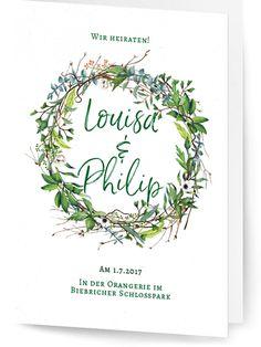 Hochzeitskartendesign-Paradies im Gruenem-Hochzeit-Greenery Hochzeitseinladung-Grün-Blätter-Monstera-Eukalyptus-Äste-Gräser-Farn-Kranz-Hochzeitspapeterie-Hochzeitskarte-Einladung-vorne-1