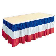 Beistle Patriotic Table Skirting (6ct)