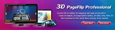 3D Flash flip Software - convert PDF, doc, ppt, images to 3D page flip book with realistic page turning effect. Easily create page flip Book, e-magazine with 3D contents on Mac or PC!
