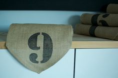 Numbered Burlap Runners | A Little Bite of Everything