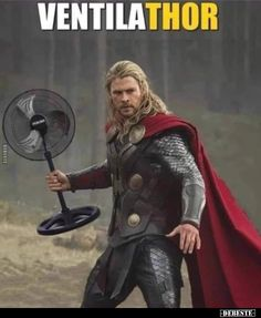 He's Thor's biggest fan LOL ~. Marvel Funny, Marvel Dc, Marvel Comics, Memes Humor, Jokes, Funny Images, Funny Pictures, Image Gag, Wednesday Humor