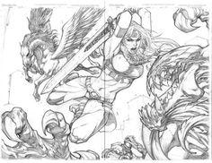 Ultimates vs Venom by Joe Madureira Comic Book Artists, Comic Artist, Comic Books Art, Joe Madureira, Reference Manga, Character Art, Character Design, Wolf Illustration, Comic Art Community