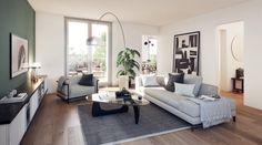 Architekturvisualisierung   GRAPHEX   3D Visualisierung und Rendering Architekturvisualisierung   GRAPHEX   3D Visualisierung und Rendering Interior Rendering, Office Desk, Villa, Couch, Living Room, Table, Design, 3d, Furniture