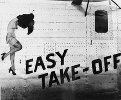 """Easy Take-Off"" Nose Art #noseart #aviation #art"