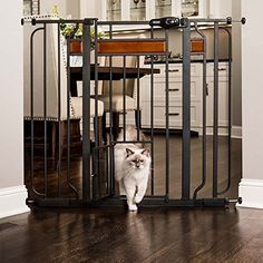 Carlson Pet Products Home Design Extra Tall Gate With Small Pet Door, Black  * You