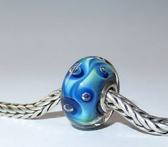 Luccicare Lampwork Bead  Bubbles   Lined with by Luccicare on Etsy
