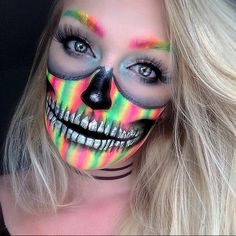 Rainbow Skull - Celebrate Day of the Dead With These Sugar Skull Makeup Ideas - Photos
