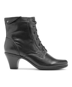 This Cobb Hill Black Samantha Leather Boot by Cobb Hill is perfect! #zulilyfinds