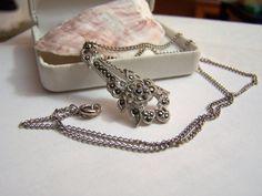 Antique Rhodium Pendant Necklace Authentic by ExquisiteStudios, $89.00