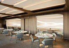 Dachgarten - hotel Bayerischer Hof | Jouin Manku | Projets | Meta Title Hotel Lounge, Bar Lounge, Interior Design Magazine, Restaurant Interior Design, Top Interior Designers, Plafond Design, Hospitality Design, Commercial Interiors, Ceiling Design