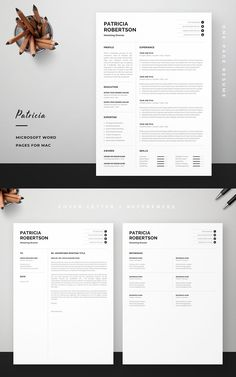 Professionally designed resume template that showcases your skills and experience in an elegant and effective way. The layout is optimized for building a resume that is informative, visually attractive and easy to navigate. The template package includes resume, cover letter and references templates in matching designs for creating a complete and consistent job application quickly and easily. Build your new resume now! #resume #resumetemplate #cv #cvtemplate #jobsearch #jobhunt #careeradvice One Page Resume Template, Modern Resume Template, Creative Resume Templates, Cv Template, Cv Skills, Cv Words, Resume Profile, Build A Resume, Word Online