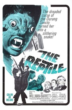 'THE REPTILE' (1966) | Stars Noel Willman, Jennifer Daniel, Ray Barrett, Jacqueline Pearce, John Laurie and Michael Ripper.  Director: John Gilling     ✫ღ⊰n