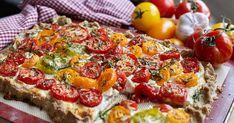 Lantlig galette med tomat och getost   Recept från Köket.se