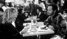 "When Harry Met Sally (1989): One of the most memorable location scenes in New York City's history was filmed at Katz's Delicatessen at 205 East Houston Street, featuring Meg Ryan, Billy Crystal, and a customer played by the mother of the film's director Rob Reiner. The table at which the scene was filmed now has a plaque on it that reads, ""Congratulations! You're sitting where Harry met Sally."""