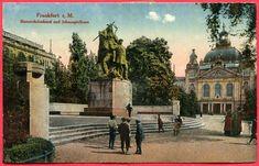 Frankfurt a. M. - Schauspielhaus Bismarck Denkmal Postempel 11.1.1923